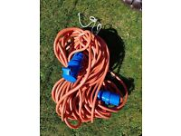 Electric Hook-up Cable. Heavy-duty 25m for caravan, motorhome or camping. VGC.