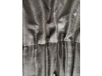 Luxury long length fully lined grey curtains