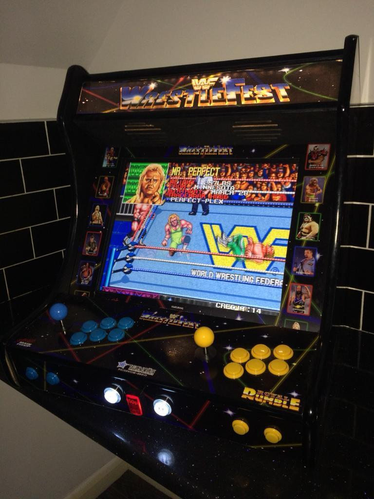Wwf Wrestlefest Bartop Arcade Machine Retro Pi 3 In