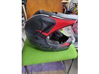 Qtech childrens motorcross mx style helmet for BMX or Quad bike