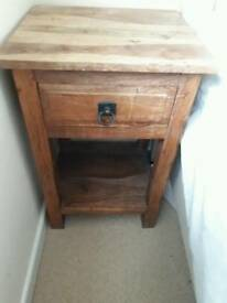 Solid oak hall table