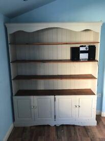 Lovely 'Shabby chic' style pine kitchen / dining dresser