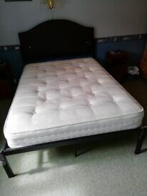 Double bed (queen's), headboard & mattress
