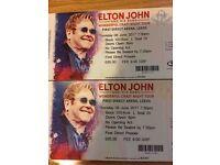 Elton John 2 x Seated Tickets, Row L, June 8 2017