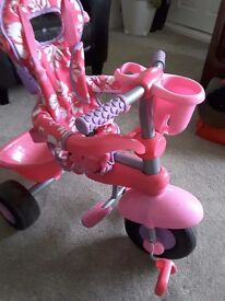 Girls trike, suitable from 9 months