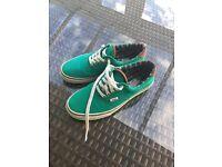 Men's/boys green Vans shoes