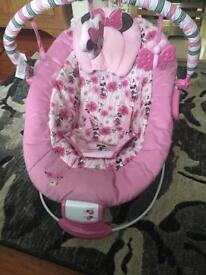 Minnie Mouse vibrating chair