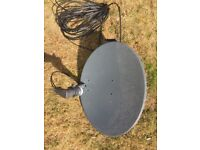 Excellent Pristine Sky Dish 2 Port LNB with mounting Bracket, Bolts and Long Cable Must Collect