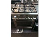 Stainless steel baumatic 60cm gas cooker grill & oven good condition with guarantee