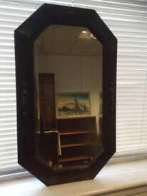 Antique oak mirror 74x44cm
