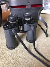 Chinon binoculars with case