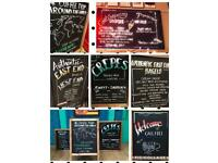 Chalkboard Artist Blackboard signwriter #pub #weddingplanner London All UK