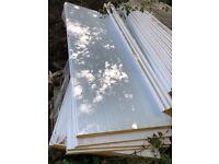 Insulation panels; White wall panels