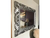 Large wooden carved mirror XL