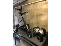 Power Buggy Professional Golf Trolly, MotCaddy Winter Wheels and MotCaddy Lithium Battery