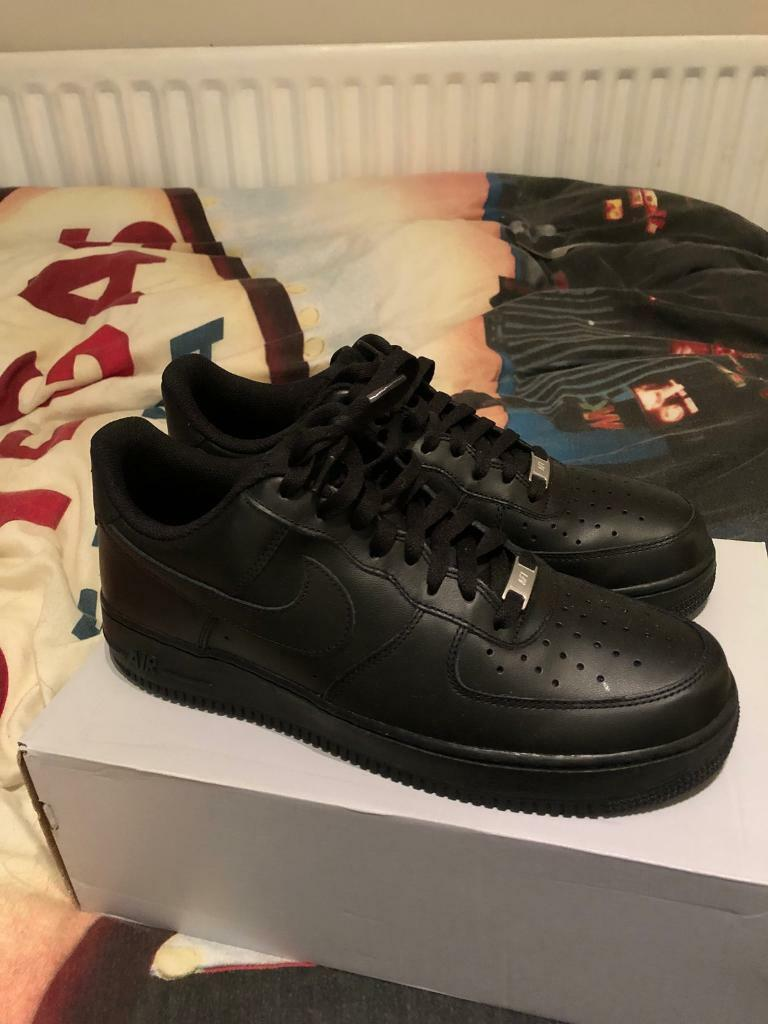 official photos 7d3c6 b07bc ... order nike air force 1 low black shoes uk 10 new in box 8dc6c 76bbc