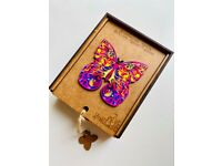 Amazing Jigsaw Wooden Puzzle-Shining Butterfly -Unique Shape Top Gift