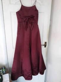 Merlot age 13 bridesmaid dress
