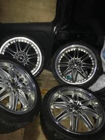 "Lenso alloy wheels 17"" multi size"
