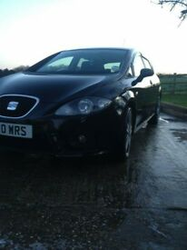 black seat leon fr 200bhp, manual, petrol, cruise control
