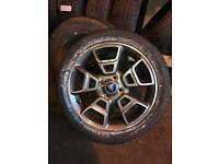 "17"" ford alloys with brand new tyres"