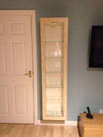 Ikea Display Cabinet - Beech & Glass x 2