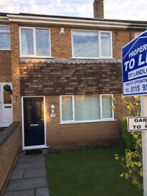 3 Bedroom Mid Townhouse with Garage at rear in Carlton - Unfurnished