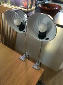 Clip on table lights
