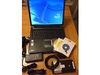 Professional Diagnostic Laptop Car Van Truck + Bluetooth VCI + 2014.2 Software