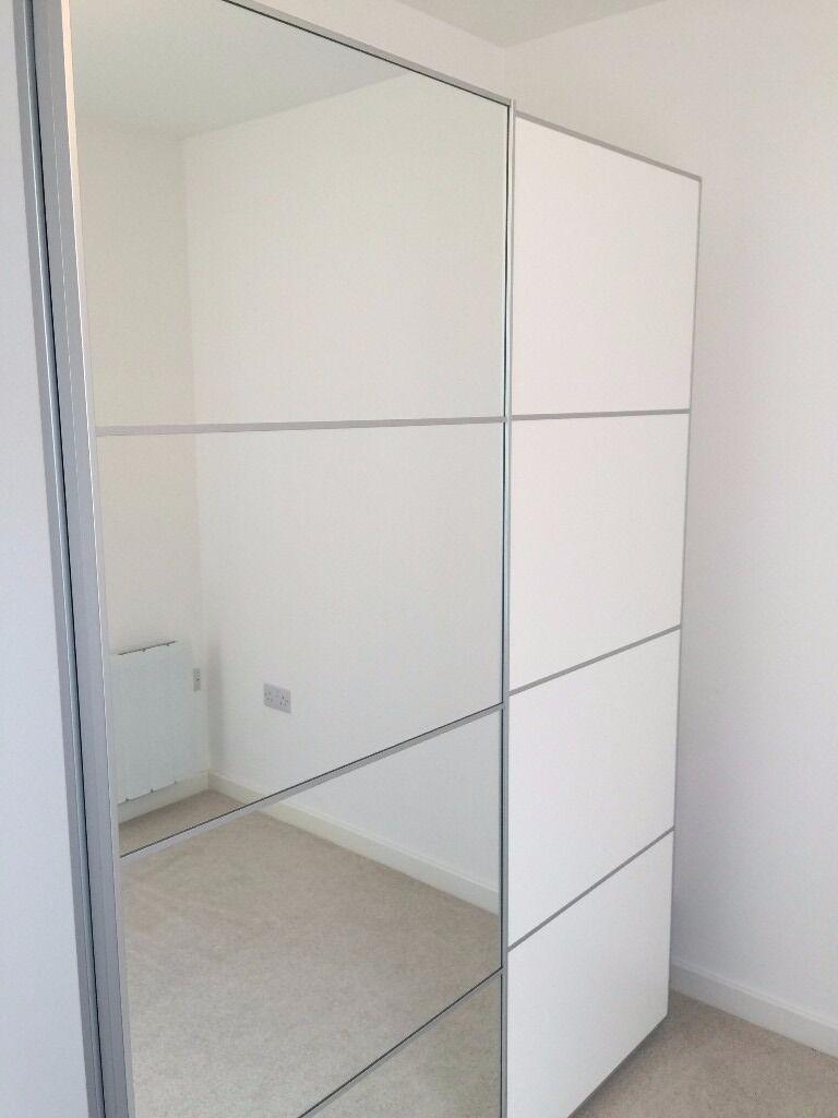 Pax Wardrobe White And Mirror Door In Crawley West