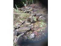 York stone for garden decoration