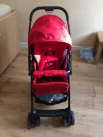 Light weight Jodie red and black pushchair