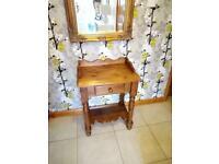 Pine hall unit hall table wash stand - beautiful