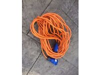 25 Metre mains Hook Up Lead Hardly Used