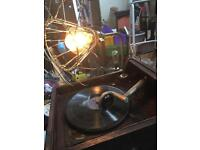 HMV GRAMOPHONE STEAM PUNK STYLE LAMP WORKING THIS IS A ONE OFF