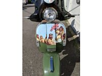 """2015 LML Star Scooter 125cc in green 4 stroke automatic with Scott of the Antarctic"""" transfers for sale  Barry, Vale of Glamorgan"""