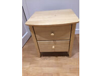 Bedside Table, Two Drawers