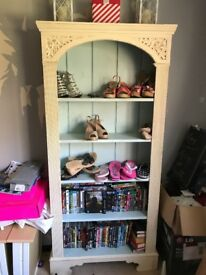 Large solid wood heavy bookcase/shelving