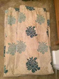 Gold & Teal curtains