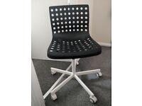 Ikea Desk Chair (black/white)