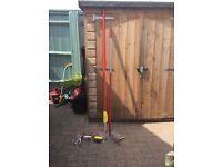Wolf Garden tools extending pole to 300cm & selection of detachable garden tools