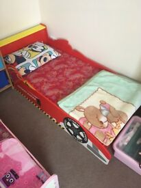 Two children's bed base and mattresses