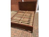 King size mahogany bed with mattress Can deliver