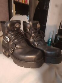 Genuine New Rock Short Boots Mens size 10