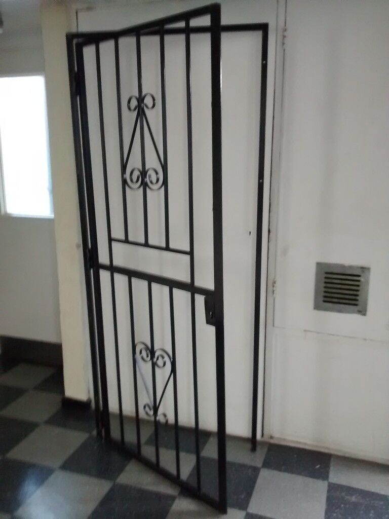 Metal Security Gate Framed Gate Metal Door Size W 84 5