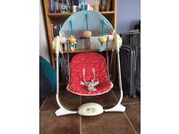 Chicco Baby Swing with newborn insert