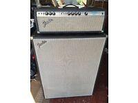 Vintage Fender Bassman 100 amp & Fender Bass Cab