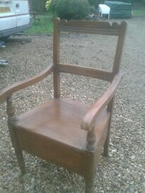 vintage chair comode