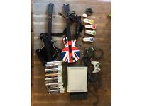 Xbox 360 with 23 games, Kinect and 2xGuitar bundle