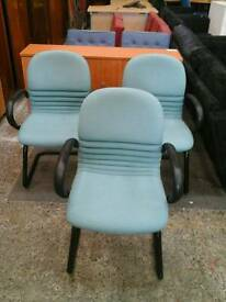 Light blue office chairs
